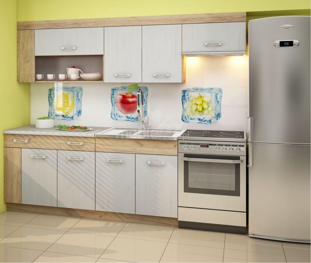 Kuchnia Viza Plus 240 Cm Craft Złoty Craft Biały