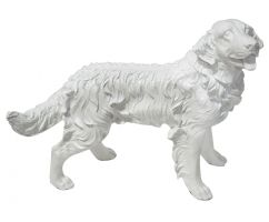 Figura A020 Pies Golden Retriever 54x44x34cm Biały