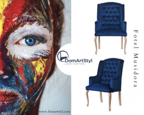 Fotel Glamour/ Chesterfield Musidora